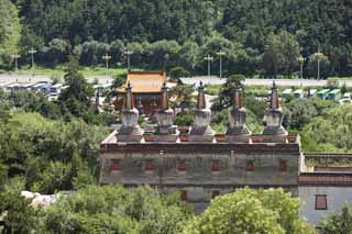 photo,material,free,landscape,picture,stock photo,Creative Commons,Putuo Zongcheng Temple, Tibet, Chaitya, I am splendid, white tower