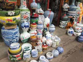 photo,material,free,landscape,picture,stock photo,Creative Commons,An eastern edge market, shop, market, pot, Ceramics