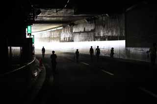 photo,material,free,landscape,picture,stock photo,Creative Commons,The tunnel of the Metropolitan expressway, tunnel, highway, An exit, corner