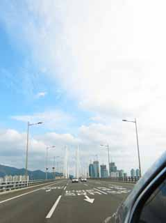 photo,material,free,landscape,picture,stock photo,Creative Commons,Pusan Guangan village, highway, bridge, road, building