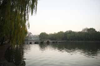 photo,material,free,landscape,picture,stock photo,Creative Commons,Xi-hu lake, bridge, Saiko, willow,