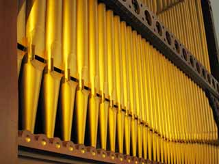 photo,material,free,landscape,picture,stock photo,Creative Commons,A pipe organ, musical instrument, pipe, An organ, Gold
