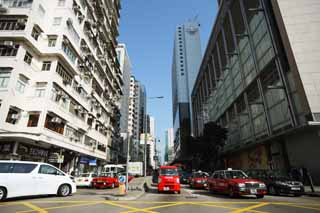 photo,material,free,landscape,picture,stock photo,Creative Commons,According to Hong Kong, car, taxi, building, crossing
