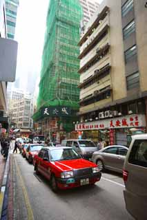 photo,material,free,landscape,picture,stock photo,Creative Commons,According to Hong Kong, car, taxi, building, Construction