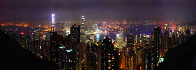photo,material,free,landscape,picture,stock photo,Creative Commons,A night view of 1 million dollars, Victoria peak, Mt. Taihei, Hong Kong Island, Nine dragons
