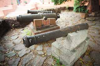 photo,material,free,landscape,picture,stock photo,Creative Commons,A cannon at the time of the Opium War, cannon, weapon, Military affairs, Opium War