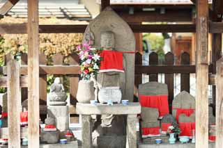 photo,material,free,landscape,picture,stock photo,Creative Commons,Article 2 crossroads Kangiji guardian deity of children, Guardian deity of children, Buddhism, stone statue, Offering of flowers