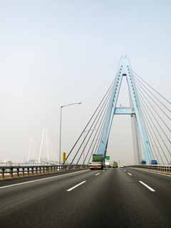photo,material,free,landscape,picture,stock photo,Creative Commons,Isewan bank Expressway excellent port Tokyo University bridge, Excellent port triton, , Nagoyako, highway