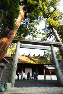 photo,material,free,landscape,picture,stock photo,Creative Commons,Toyoke Grand Shrine at Ise (Geku) plus shrine, Ise gives up, Ise, torii, Sacred food capital God