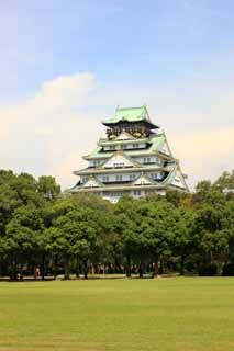 photo,material,free,landscape,picture,stock photo,Creative Commons,Tower of Osaka Castle, , , ,