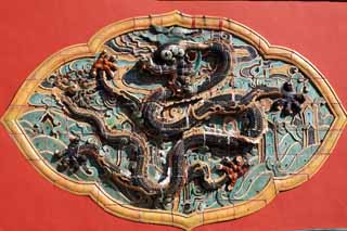 photo,material,free,landscape,picture,stock photo,Creative Commons,Zhao Mausoleum (Qing) wall of decoration, , , ,
