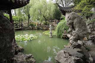 photo,material,free,landscape,picture,stock photo,Creative Commons,Lingering Garden pond, , , ,