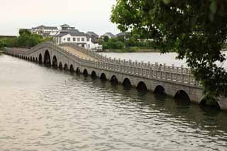 photo,material,free,landscape,picture,stock photo,Creative Commons,Zhouzhuang all Fu Bridge, , , ,