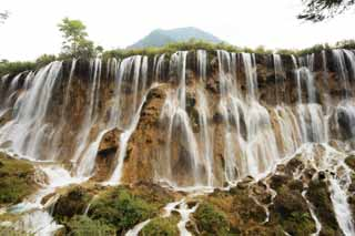 photo,material,free,landscape,picture,stock photo,Creative Commons,Jiuzhaigou Nuo Date Akira Waterfall, , , ,