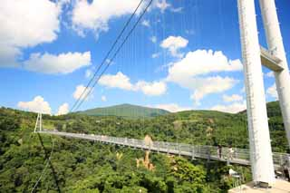 photo,material,free,landscape,picture,stock photo,Creative Commons,Yume Kuju large suspension bridge, , , ,