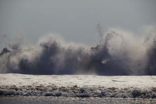 photo,material,free,landscape,picture,stock photo,Creative Commons,Death cry of surf, wave, sea, spray, splash