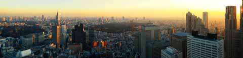photo,material,free,landscape,picture,stock photo,Creative Commons,A panoramic view of the sunset Shinjuku, , , ,