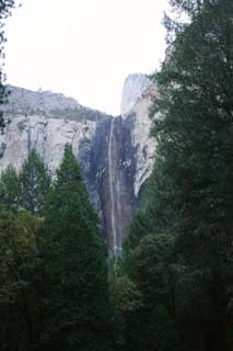 photo,material,free,landscape,picture,stock photo,Creative Commons,Bridal veil waterfall, cliff, valley, YOSEMITE,