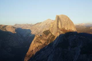photo,material,free,landscape,picture,stock photo,Creative Commons,Half Dome in evening, At dark, Granite, forest, cliff
