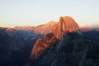 photo,material,free,landscape,picture,stock photo,Creative Commons,Half Dome that burns in red, At dark, Granite, forest, cliff