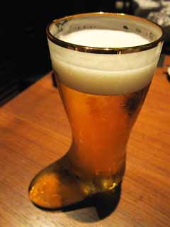 photo,material,free,landscape,picture,stock photo,Creative Commons,A glass of beer-boots., , , ,