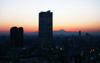 photo,material,free,landscape,picture,stock photo,Creative Commons,Roppongi and dusk of Fuji, Mt. Fuji, Roppongi Hills, night view, At dark