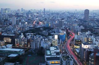 photo,material,free,landscape,picture,stock photo,Creative Commons,Dusk of Roppongi, building, The Metropolitexpressway, night view, At dark