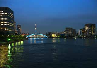 photo,material,free,landscape,picture,stock photo,Creative Commons,The Sumida river, , , ,