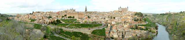 photo,material,free,landscape,picture,stock photo,Creative Commons,A panoramic view of Toledo, , , ,