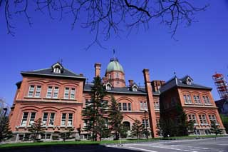 photo,material,free,landscape,picture,stock photo,Creative Commons,Hokkaido agency, The Hokkaido Government Office, European-style building, building, brick
