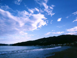 photo,material,free,landscape,picture,stock photo,Creative Commons,Summer in Usami, sea, cloud, blue sky,