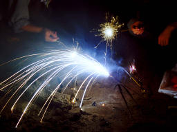 photo,material,free,landscape,picture,stock photo,Creative Commons,Fireworks, firework, in hand, trace of light,
