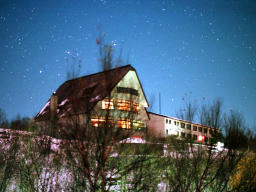 photo,material,free,landscape,picture,stock photo,Creative Commons,Starry sky and a lodge, mountain, grove, ,