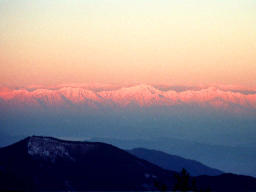 photo,material,free,landscape,picture,stock photo,Creative Commons,Sunrise glow of the Japan Alps, mountain, snow, ,