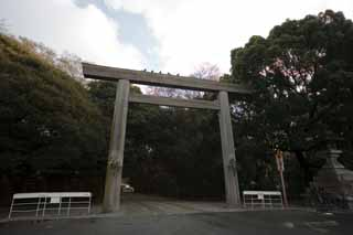 photo,material,free,landscape,picture,stock photo,Creative Commons,Atsuta-jingu Shrine torii, Shinto shrine, torii, The gate, Religion