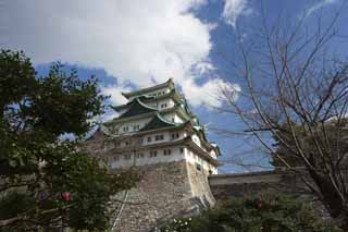photo,material,free,landscape,picture,stock photo,Creative Commons,Nagoya-jo Castle, killer whale pike, castle, The castle tower,