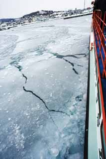 photo,material,free,landscape,picture,stock photo,Creative Commons,Crush drift ice, Drift ice, Ice, port, ship