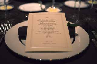 photo,material,free,landscape,picture,stock photo,Creative Commons,Today's menu, wedding reception, menu, table set, plate