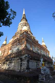 photo,material,free,landscape,picture,stock photo,Creative Commons,Che day of Ayutthaya, pagoda, temple, Buddhist image, Ayutthaya remains
