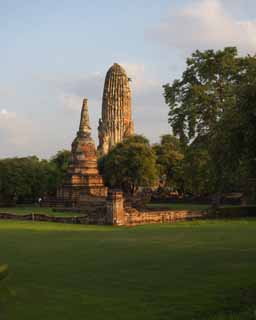 photo,material,free,landscape,picture,stock photo,Creative Commons,Wat Phraram, World's cultural heritage, Buddhism, pagoda, Ayutthaya remains