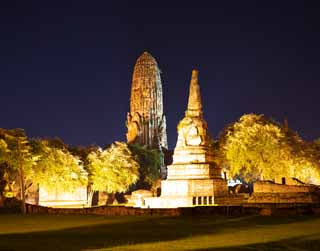 photo,material,free,landscape,picture,stock photo,Creative Commons,Wat Phraram, World's cultural heritage, Buddhism, building, Ayutthaya remains
