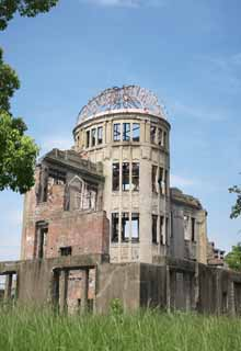 photo,material,free,landscape,picture,stock photo,Creative Commons,The A-Bomb Dome, World's cultural heritage, nuclear weapon, War, Misery