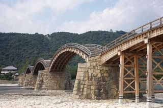 photo,material,free,landscape,picture,stock photo,Creative Commons,Kintai-kyo Bridge, Kintai-kyo Bridge, noted place, sightseeing spot, bridge