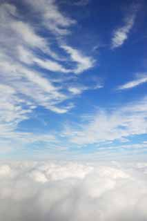 photo,material,free,landscape,picture,stock photo,Creative Commons,It is empty in a sea of clouds, sea of clouds, The weather, The stratosphere, blue sky