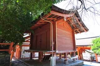photo,material,free,landscape,picture,stock photo,Creative Commons,Kasuga Taisha Shrine treasure house, Shinto, Shinto shrine, An above-ground house type, roof