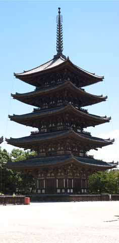 photo,material,free,landscape,picture,stock photo,Creative Commons,Kofuku-ji Temple Five Storeyed Pagoda, Buddhism, wooden building, Five Storeyed Pagoda, world heritage