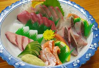 photo,material,free,landscape,picture,stock photo,Creative Commons,A helping of various kinds of dishes of the sashimi, Fish dishes, I stab you and serve it, Sashimi,