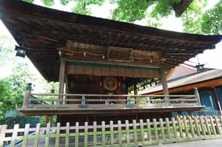 photo,material,free,landscape,picture,stock photo,Creative Commons,Kompira-san Shrine kagura hall, Shinto shrine Buddhist temple, drum, wooden building, Shinto