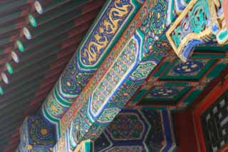 photo,material,free,landscape,picture,stock photo,Creative Commons,Summer Palace beam pattern, Dragon, , Chinese, Decoration