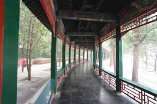 photo,material,free,landscape,picture,stock photo,Creative Commons,Summer Palace long corridor, Decoration, Liang, Ink Paintings, Green